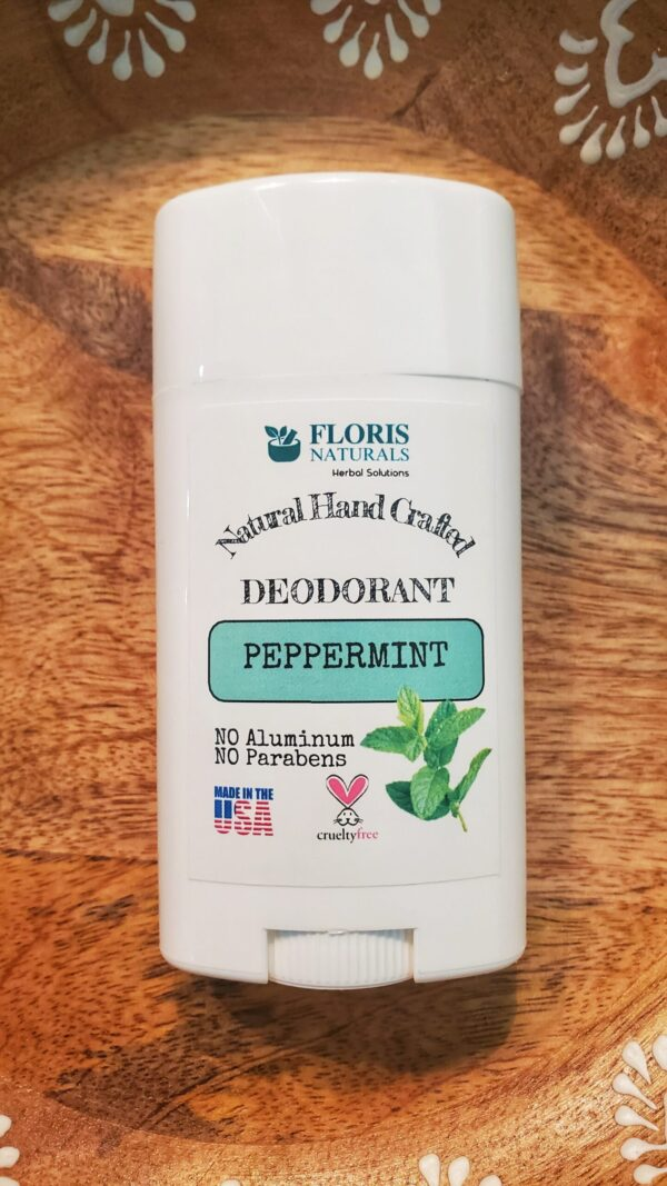 Natural Organic Hand-Crafted Cruelty Free Roll-On Deodorant - Peppermint