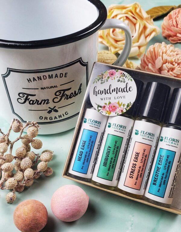 Natural Healthy Feel Good Roll-On Blends - Floris Naturals