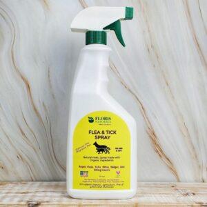Organic Flea & Tick Spray for Cats and Dogs - Floris Naturals