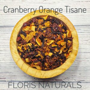 Natural Loose Tea - Cranberry Orange Tisane - Floris Naturals
