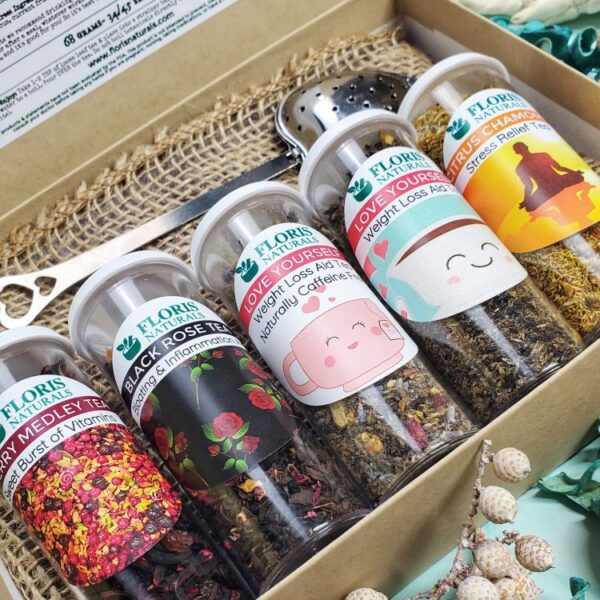Natural Loose Leaf Tea - Self Love Sampler Gift Box - Floris Naturals