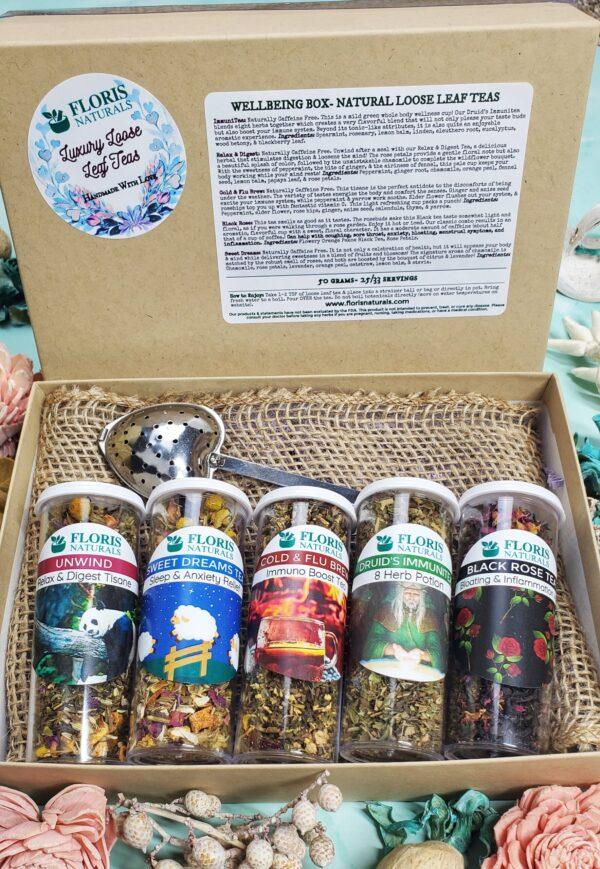Natural Wellbeing Tea Sampler Gift Box - Floris Naturals