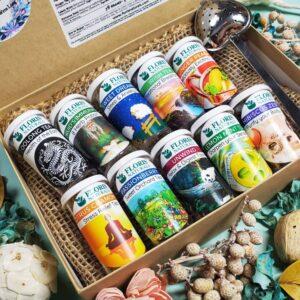 Natural Loose Leaf Tea - The Ten Wonders Sampler Gift Box - Floris Naturals