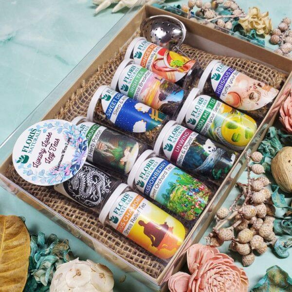 Natural Around the World Tea Sampler Gift Box - Floris Naturals