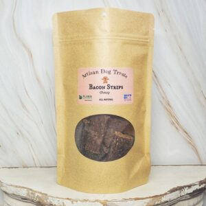Natural Dog Treats - Bacon Strips Chewy - Floris Naturals