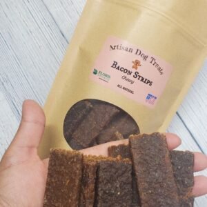 Natural Dog Treats - Chewy Bacon Strips - Floris Naturals