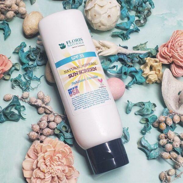Natural Sunscreen (Tahitian Vanilla) with Minerals (SPF35) - Floris Naturals
