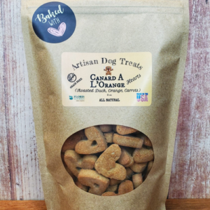 Natural Organic Dog Treats - CANARD A L'ORANGE (Roasted Duck, Orange and Carrots) - Floris Naturals