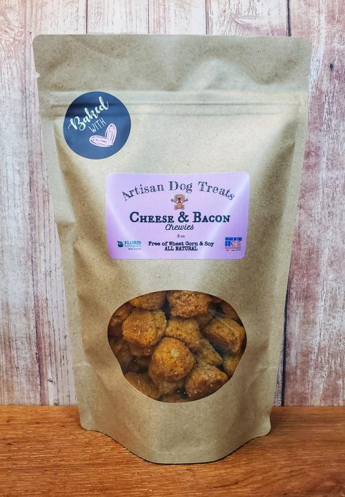 Natural Organic Dog Treats - Cheese & Bacon Chewie - Floris Naturals