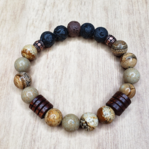 Floris Naturals - Chinese Jasper-Wood 10mm