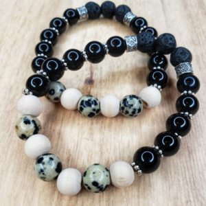 Floris Naturals - Dalmatian Jasper-Wood 10mm