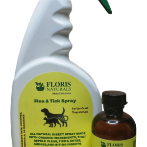 Floris Naturals - Dog & Cat Flea Spray Kit, Makes 1 gallon