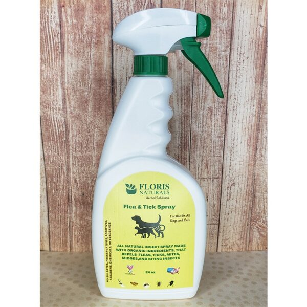 Natural Organic Herbal Flea & Tick Spray for Cats and Dogs - Floris Naturals