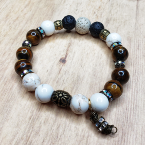 Floris Naturals - Howlite-Tiger Eye 10mm