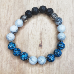 Floris Naturals - Howlite White & Blue 10mm for HIM