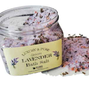 Natural Organic Herbal Luxury Epsom Lavender Bath Salt - Floris Naturals